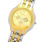Fashion Men's Stainless Steel Quartz Wrist watch - Golden + Silver (1 x SB626SW)