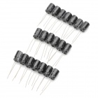 35V 220uf Aluminum Capacitors - Black (20-Piece Pack)