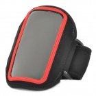 Stylish Sports Armband Pouch for Iphone 4 / Iphone 4S / HTC G22 / HTC G21 - Black + Red