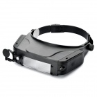 Head-wearing magnifier with 2-led light (3 x aaa)