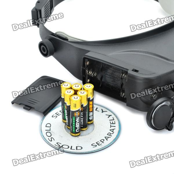 Head Wearing Magnifier With 2 Led Light 3 X Aaa Free