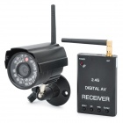 "2.4GHz 1/4"" CMOS 300KP Wireless Surveillance Security Camera w/ 30-IR LED / TF Slot - Black"