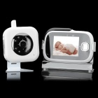 2.4GHz Wireless Digital Baby Monitor Security Camera w/ 8-LED IR Night Vision/TF - White (3.2