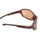 Outdoor Sports UV400 Protection Square Shaped Lens Sunglasses - Coffee