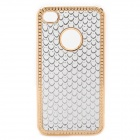 Protective PC Electroplating Cover Case for Iphone 4 / 4S - Golden + White