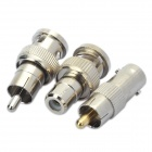 BNC para AV Adapter Connector Set - Prata
