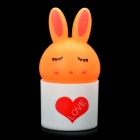 Cute Rabbit Style Light Activated LED Night Lamp - Orange (3-flat-pin plug)