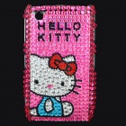 Shining Acrylic Diamond Hello Kitty Pattern Plastic Back Case for BlackBerry 8520 / 8530 - Pink
