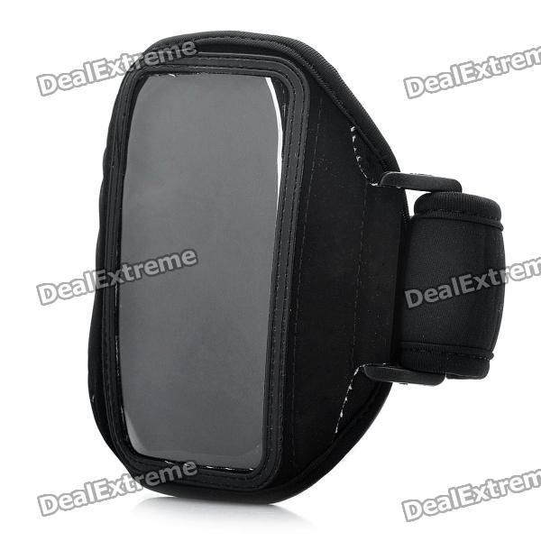 Geral Trendy Sports Armband para iPhone 4 / 4S / HTC G22 / G21 - Preto