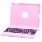 Rechargeable Bluetooth V2.0 82-Key QWERTY Wireless Keyboard w/ Protective Case for iPad 2 - Pink