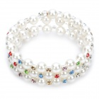 Replica Juicy Couture Pearl Fancy Color Rhinestone 3-Circle Bracelet