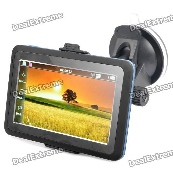 """4.3"""" Resistive Touch Screen WinCE 6.0 GPS Navigator w/ FM / 4GB Europes Map TF Card - Black (4GB)"""