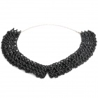 Vintage Lady&#039;s Imitation Pearl Beaded Collar - Black