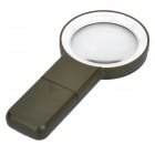 Handheld 67mm 5X Magnifier w/ 10-LED Illumination -Army Green (2 x AA)
