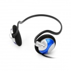 Stereo Headset Headphone w/ Microphone / Volume Control - Blue (Dual 3.5mm Jack)