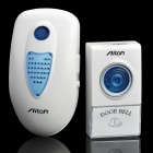 2W 38-Melody Wireless Doorbell Transmitter / Receiver Set - White (1 x 23A 12V / AC 220V)