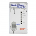 1.0&quot; LCD Voice Recorder with MP3 Music Player - Silver (4GB)