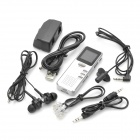 "1.0"" LCD Voice Recorder with MP3 Music Player - Silver (8GB)"