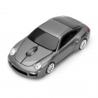 Car Porsche Style Wireless 500/1600DPI Mouse w/ Mini Receiver - Grey (2 x AAA)