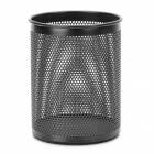 Stylish Cylinder Shaped Metal Pen Holder - Black