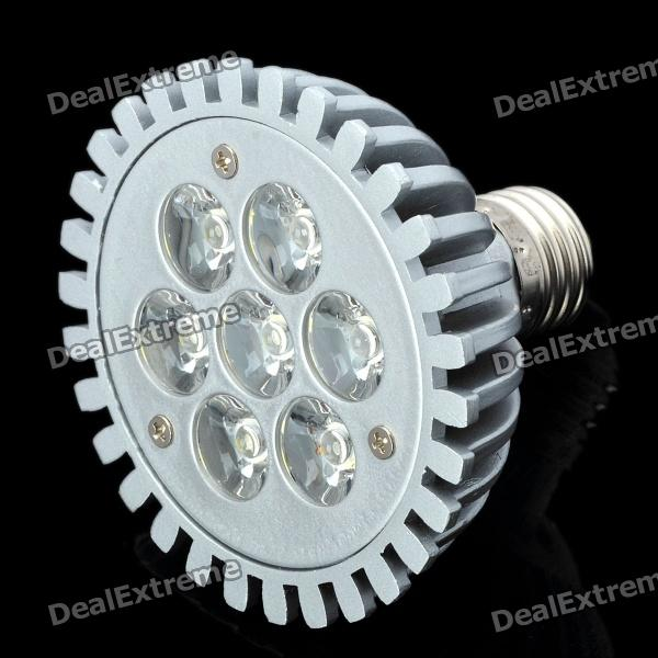 E27 7W 665LM 6000K White 7-LED Spot Light Bulb (AC 89-265V) high quality 9w epistar led spot bulb e27 base par38 led light 900lm white ac85 265v ce