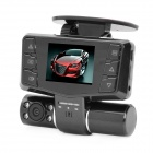 "300KP Dual Lens Car DVR Camcorder w/ 8-IR LED / TF / AV-Out - Black (2.0"" TFT)"