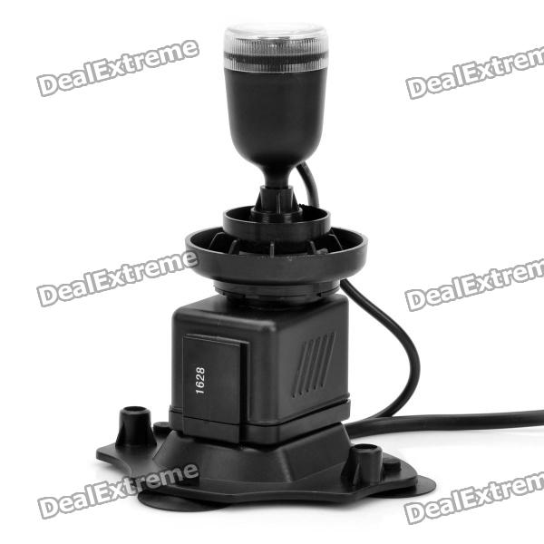 5W Immersible Submersible Air Pump w/ 5 Blue LEDs - Black (AC 220~240V / 2-Flat-Pin Plug)