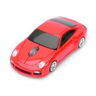 Car Porsche Style Wireless 500/1600DPI Mouse w/ Mini Receiver - Red (2 x AAA)