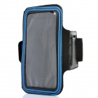 Trendy Outdoor Sports Arm Band for Samsung i9220 - Black + Blue