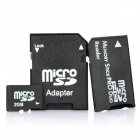 Micro SD/TF Card with SD Card and MS Card Adapter - Black (2GB)