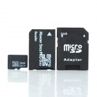 Micro SD/TF Card with SD Card and MS Card Adapter - Black (16GB / Class 6)