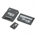 Micro SD/TF Card with SD Card and MS Card Adapter - Black (4GB)