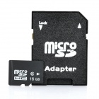 Micro SD/TF Card with SD Card Adapter - Black (16GB / Class 6)