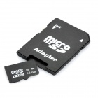 Micro SD/TF kort med SD-kort Adapter - svart (16GB / klass 6)