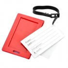 "Secure Travel Suitcase ID Luggage Tag - ""EXCUSE ME,NOT YOUR BAG!"" (Red)"