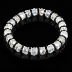 Elegant Crystal Imitated Diamond Bracelet - Transparent + Black (Pair)