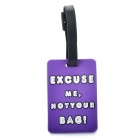 "Secure Travel Suitcase ID Luggage Tag - ""EXCUSE ME,NOT YOUR BAG!"" (Small / Purple)"