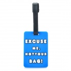 "Secure Travel Suitcase ID Luggage Tag - ""EXCUSE ME,NOT YOUR BAG!"" (Small / Blue)"