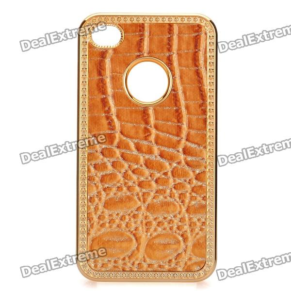Protective PC Electroplating Cover Case for Iphone 4/4S - Golden + Brown leo lionni it s mine