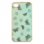 Protective PC Electroplating Cover Case for iPhone 4/4S - Golden + Light Green + Black