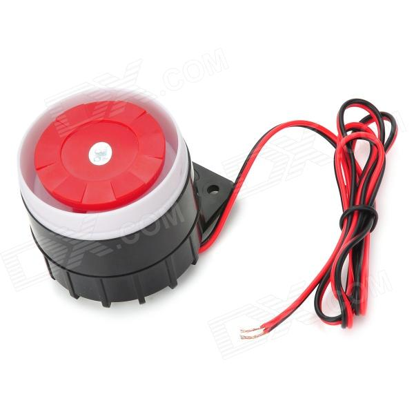 110dB Loud Security Alarm Siren Horn Speaker Buzzer - Black + Red (DC 6~16V) 120db loud security alarm siren horn speaker buzzer black red dc 6 16v page 4