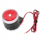 110dB Loud Security Alarm Siren Horn Speaker Buzzer - Black + Red (DC 6~16V)