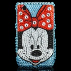 Fashion Minnie Mouse Acrylic Diamond Protective Back Case for Blackberry 8520 / 8530