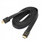 Genuine Sony HDMI 1.4 Male to Male Flat Connection Cable - Black (200cm)
