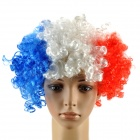 France Wig Hairpiece for Football Soccer Fans - Red + White + Blue