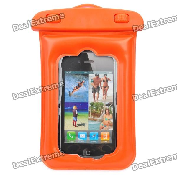 Waterproof Protective Case Pouch for Iphone - Reddish Orange