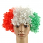 Italy Wig Hairpiece for Football Soccer Fans - Green + White + Red