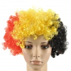 Belgium Wig Hairpiece for Football Soccer Fans - Black + Yellow + Red