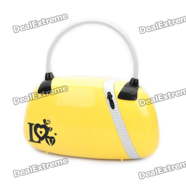 Fashion Handbag Style 2W 15-LED Flexible Neck White Light Desktop Lamp