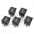 Electrical 6-Pin Power Control On/Off Rocker Switch (5-Pack)